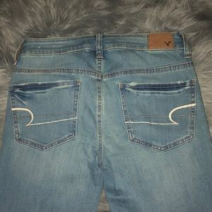 American Eagle Outfitters Jeans - Light wash blue super stretch jeggings
